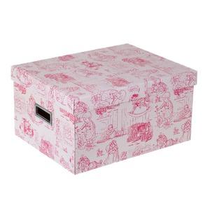 Caixa Organizadora Papelão Rosa 20x30,50x39cm Closet Kids Boxgraphia