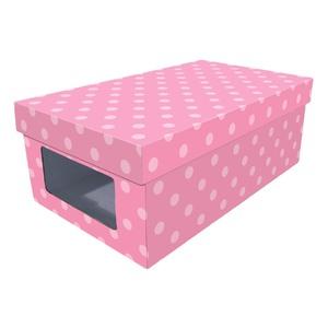 Caixa Organizadora Papelão Rosa  11x17,5x30 cm Closet Kids Boxgraphia