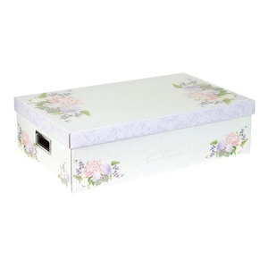 Caixa Organizadora Papelão Roxo 14x31x50cm Closet Boxgraphia