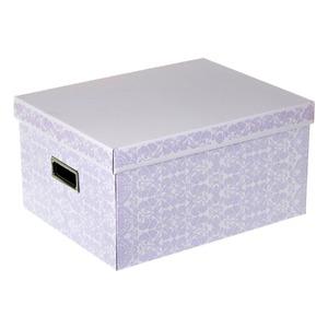 Caixa Organizadora Papelão Roxo 20x30,50x39cm Closet Boxgraphia