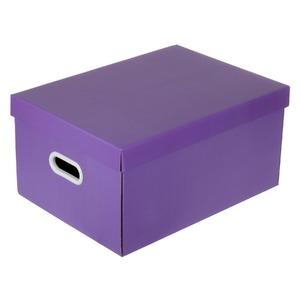 Caixa Organizadora Papelão Roxo 22x32x44cm Office Boxgraphia