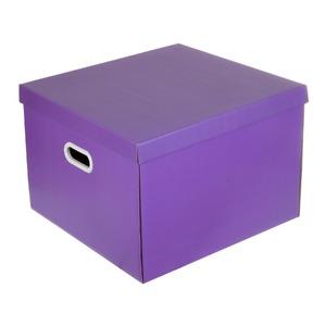 Caixa Organizadora Papelão Roxo 30x42x44cm Storage Boxgraphia