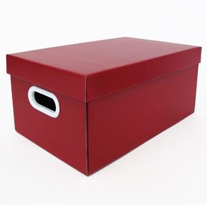 Caixa Organizadora Papelão Vermelha Retangular 22x32x46cm Stok Boxgraphia