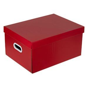 Caixa Organizadora Papelão Vermelho 22x32x44cm Office Boxgraphia