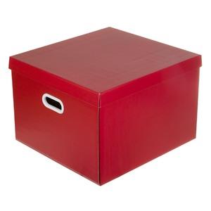Caixa Organizadora Papelão Vermelho 30x42x44cm Storage Boxgraphia