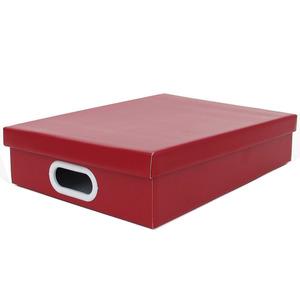Caixa Organizadora Papelão Vermelho com Alça 34x25x7 cm Storage  Boxgraphia