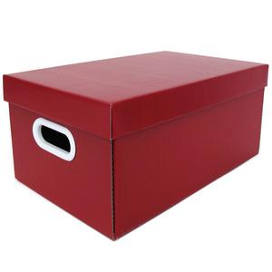 Caixa Organizadora Papelão Vermelho com Alça 35x21x15,5 cm Office Boxgraphia