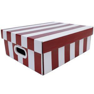 Caixa Organizadora Papelão Vermelho com Alça 35x28x12 cm Stok Boxgraphia
