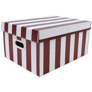 Caixa Organizadora Papelão Vermelho com Alça 43x32x22 cm Office Boxgraphia