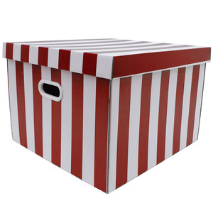 Caixa Organizadora Papelão Vermelho com Alça 44x42x30 cm Storage  Boxgraphia