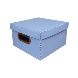 Caixa Organizadora Pequena Azul 25x25x15cm Comfort Dello