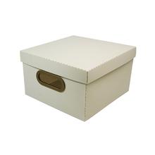 Caixa Organizadora Pequena Branca 25x25x15cm Comfort Dello