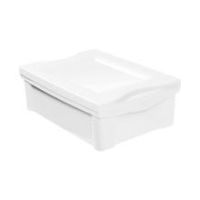 Caixa Organizadora Pequena em Plástico Branco 13,5L Ordene