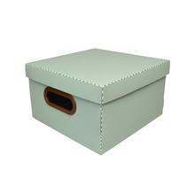 Caixa Organizadora Pequena Verde 25x25x15cm Comfort Dello