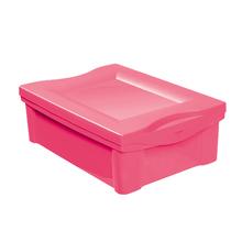 Caixa Organizadora Plástica Rosa 14X30X43cm 14L Ordene