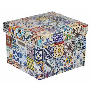 caixa organizadora pl stico multicolor 20x28x30cm 16 9l porto polycart leroy merlin. Black Bedroom Furniture Sets. Home Design Ideas