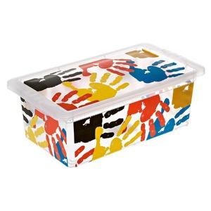 Caixa Organizadora Plástico 5,5L Transparente com Tampa 11,70x19x34,30cm Decorativa São Bernardo