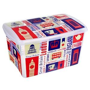 Caixa Organizadora Plástico 66L Branco com Tampa 33,50x42,20x62,80cm Organização Plasútil