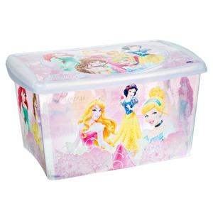 Caixa Organizadora Plástico 66L Rosa com Tampa 33,50x42,20x62,80cm Licenciados Plasútil