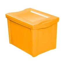 Caixa Organizadora Plástico Amarelo 30,7x42,5x30,5cm 30L Ordene