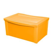 Caixa Organizadora Plástico Amarelo 30,7x63,5x42,5cm 65L Ordene