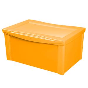 Caixa Organizadora Plástico Amarelo 65L 30,7x63,5x42,5cm Ordene
