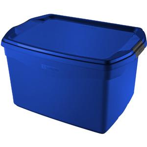 Caixa Organizadora Plástico Azul 20 Flex Sanremo