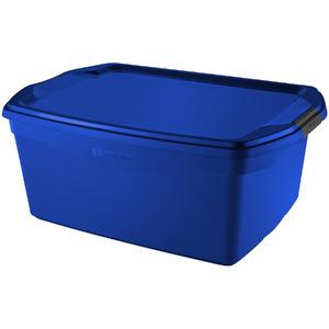 Caixa Organizadora Plástico Azul 48 Flex Sanremo