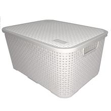 Caixa Organizadora Plástico Branco 19x28x39cm Nitronplast