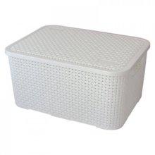 Caixa Organizadora Plástico Branco 8,5L 32,4x22x15cm Nitron