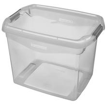 Caixa Organizadora Plástico Cinza 11L 23,1x22,8x31,8cm Sanremo