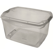 Caixa Organizadora Plástico Cinza 29L 27,6x33,1x48,7cm Sanremo