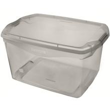 Caixa Organizadora Plástico Cinza 68L 33,1x44,1x63,1cm Sanremo
