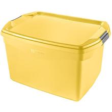 Caixa Organizadora Plástico Flex 29L Amarelo Sanremo