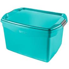 Caixa Organizadora Plástico Flex 29L Turquesa Sanremo