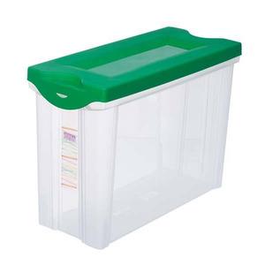 Caixa Organizadora Plástico Incolor 16,5L 30,2x18,5x42,5 cm Vista Sanremo