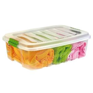 Caixa Organizadora Plástico Incolor 26,5L 18,1x40,3x55,5 cm Organização Plasútil