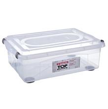 Caixa Organizadora Plástico Incolor 28,2L 21,1x38,5x56,4cm Top Stock Sanremo