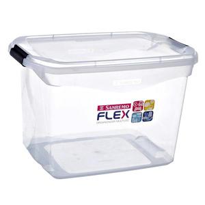 Caixa Organizadora Plástico Incolor 29L 27,6x33,1x48,7 cm Flex Sanremo