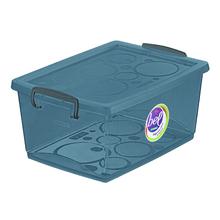 Caixa Organizadora Plástico Preto 15,3x32,5x23,5cm 7,5L Ordene