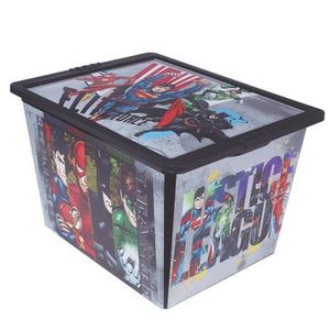 Caixa Organizadora Plástico Preto 28L 26,5x32,5x42cm Liga da Justiça São Bernado