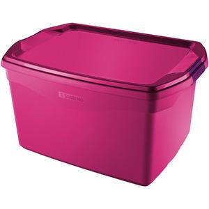 Caixa Organizadora Plástico Rosa 29 Flex Sanremo