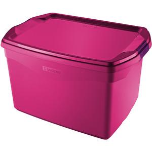Caixa Organizadora Plástico Rosa 36 Flex Sanremo