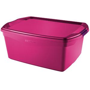Caixa Organizadora Plástico Rosa 48 Flex Sanremo