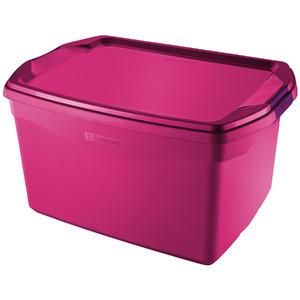 Caixa Organizadora Plástico Rosa 68 Flex Sanremo