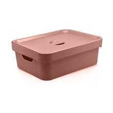 Caixa Organizadora Plástico Terracota 36x27x13cm 10,5L Nordi OU