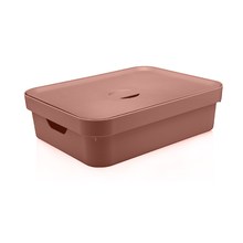 Caixa Organizadora Plástico Terracota 45x35x13cm 16L Nordi OU
