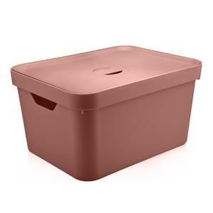Caixa Organizadora Plástico Terracota 46x36x24cm 32L Nordi OU