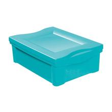 Caixa Organizadora Plástico Verde 14,4x30,5x42,5cm 13,5L Ordene