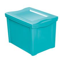 Caixa Organizadora Plástico Verde 30,7x42,5x30,5cm 30L Ordene